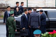 Portrait of the Secretary General of the DPRK North Korea Kim Jong Un stock image
