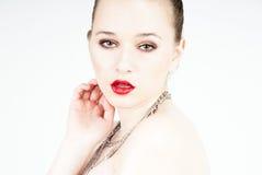 portrait seducing sexy woman Στοκ φωτογραφίες με δικαίωμα ελεύθερης χρήσης