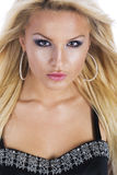 Portrait of a seductive blonde woman Stock Photos