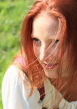 Portrait of a seductive girl Stock Images