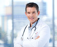 Portrait of a self-assured male doctor Royalty Free Stock Image