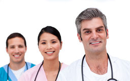 Portrait of a self-assured medical team Royalty Free Stock Photos