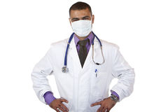 Portrait of self confident doctor with mask Royalty Free Stock Photography