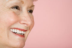 Portrait of a senior adult woman royalty free stock photo
