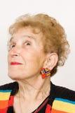 Portrait of a senior adult woman Stock Photos