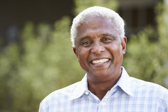 Portrait of senior African American man, close up Stock Photos