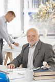 Portrait of senior architect in office Royalty Free Stock Images