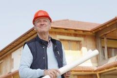 Portrait of senior architect Stock Photos