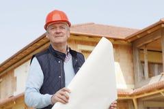 Portrait of senior architect Stock Image
