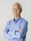 Portrait of senior asian businss man Royalty Free Stock Photo