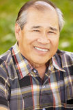 Portrait senior Asian man outdoors Royalty Free Stock Photo