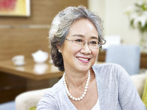 Portrait of a senior asian woman Royalty Free Stock Photography
