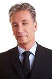 Portrait of a senior business man royalty free stock photo