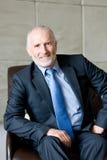 Portrait of Senior business man stock photos