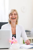 Portrait of senior business woman at office Stock Images