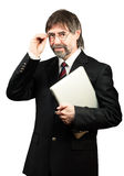 Portrait of a senior businessman Royalty Free Stock Photos