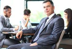 Portrait of senior businessman royalty free stock images