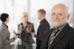 Portrait of senior businessman smiling Royalty Free Stock Images