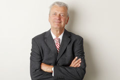 Portrait of a senior businessman smiling Royalty Free Stock Images