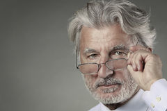 Portrait of senior businessman Stock Photos