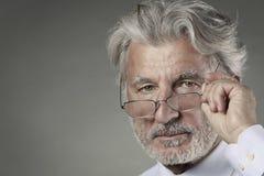 Portrait of senior businessman Stock Photos