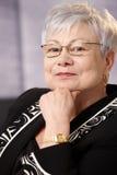 Portrait of senior businesswoman Stock Photos
