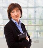 Portrait of senior businesswoman Stock Image