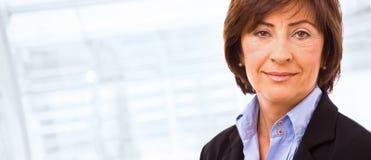 Portrait of senior businesswoman Stock Photo