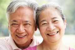 Portrait Of A Senior Chinese Couple Royalty Free Stock Photos