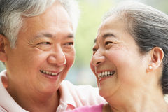 Portrait Of A Senior Chinese Couple Stock Photos