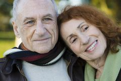 Portrait of Senior Couple royalty free stock photography