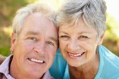 Portrait of senior couple Stock Images