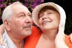 Portrait of senior couple. Close up portrait of smiling senior couple Royalty Free Stock Images