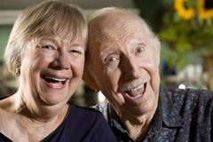 Portrait of Senior Couple Stock Photo