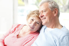 Portrait of senior couple Royalty Free Stock Images