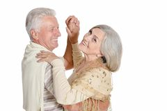 Portrait of  senior couple dancing Royalty Free Stock Photography
