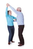 Portrait of senior couple dancing Royalty Free Stock Images