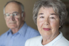 Portrait Of A Senior Couple stock photos