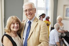 Portrait Of Senior Couple Enjoying Dancing Club Together royalty free stock photography