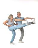 Portrait of Senior Couple Exercising Royalty Free Stock Photography