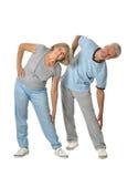 Portrait of Senior Couple Exercising Stock Photo
