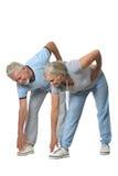 Portrait of Senior Couple Exercising Stock Photography
