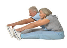 Portrait of Senior Couple Exercising Royalty Free Stock Photo