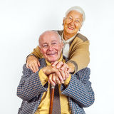Portrait of a senior couple Stock Photography