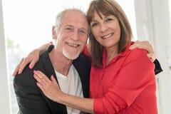 Portrait of a happy senior couple stock photography