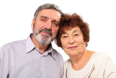 Portrait of senior couple, hug Royalty Free Stock Photo