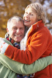 Portrait Of Senior Couple Hugging Royalty Free Stock Images