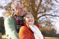 Portrait Of Senior Couple Hugging Stock Image