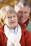 Portrait Of Senior Couple Hugging Stock Photos