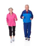 Portrait of senior couple jogging Royalty Free Stock Photography